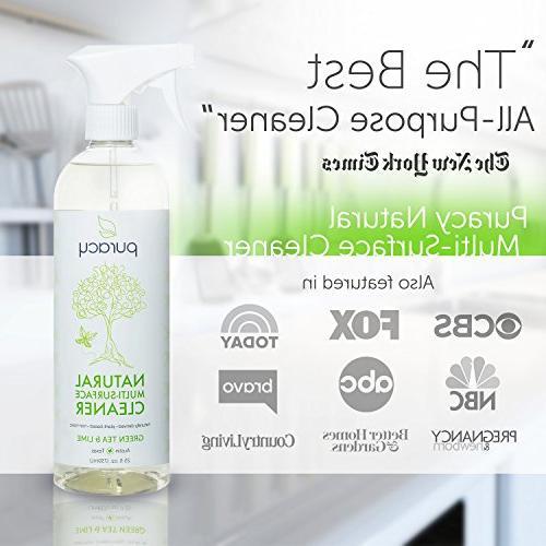 Puracy Natural Cleaner, Streak-Free Multi-Surface Spray, &