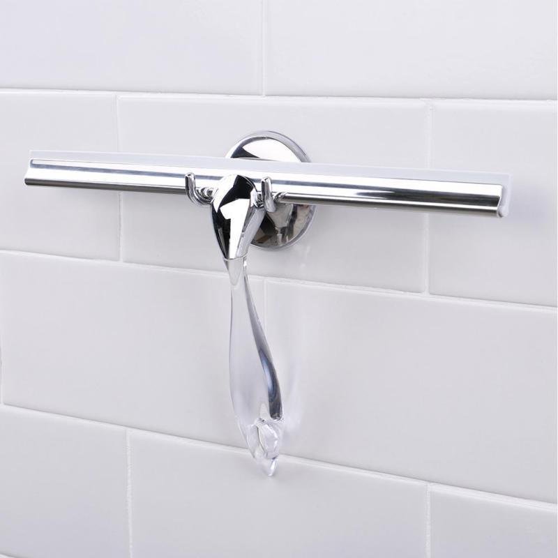 Stainless Steel Window Glass Wiper Squeegee Shower Bathroom Mirror Brush
