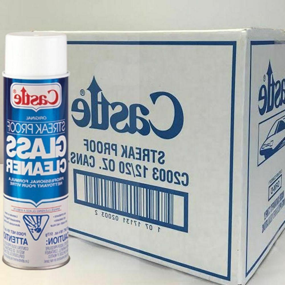 streak proof glass cleaner 12 pack case