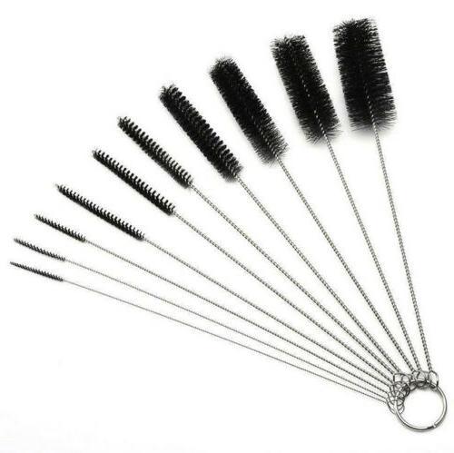USA 10PCS Household Brushes Bong Glass Tube Cleaning Brush