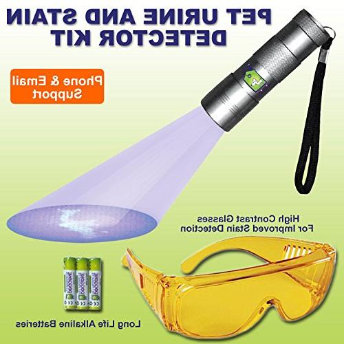 Doggone Products UV Flashlight Pet Blacklight Dry & Stains Carpets, & Paint. Alkaline With Violet