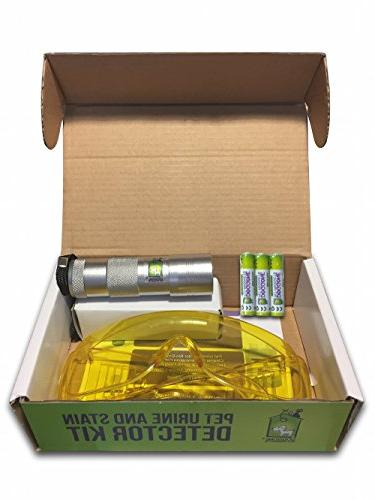 Doggone Pet UV Flashlight Pet Urine Blacklight Dry Dog & Stains Carpets, Hard Paint. Alkaline Batteries With Violet Blacklight