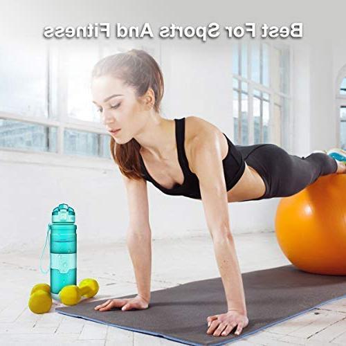 ZORRI Leak Proof, Reusable Portable for Hiking, Fitness, Click for