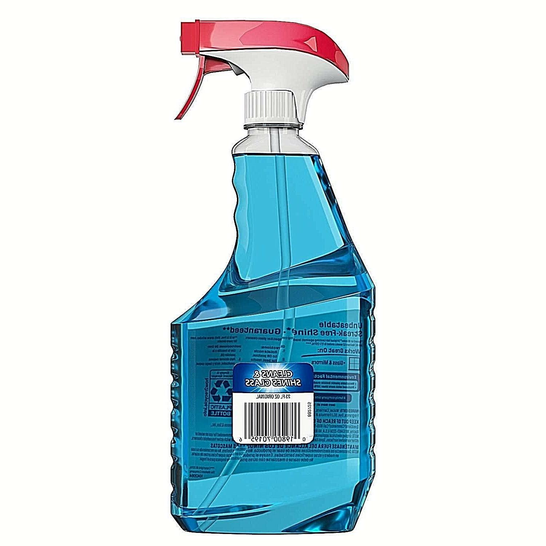 Windex glass cleaner bottle cleans fingerprints streak free