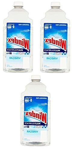 Windex Vinegar Multi-Surface Cleaner Refill, 2 L    67.6 oz