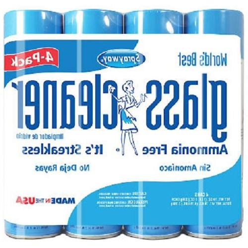 Sprayway Glass Cleaner Aerosol Spray, 19 oz ,.- 4 Packs