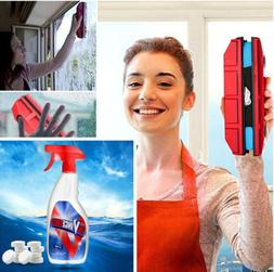 Magnetic Double Sides Window Glass Wiper+Multi Spray Cleaner