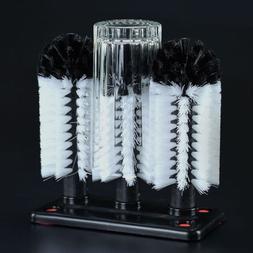 Manual Brush Glass Washer Dish Washer Bar Drinkware Cleaner/