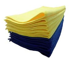 "Microfiber Cleaning Cloth 12 Pack 12""x12"" Extra Soft and No"