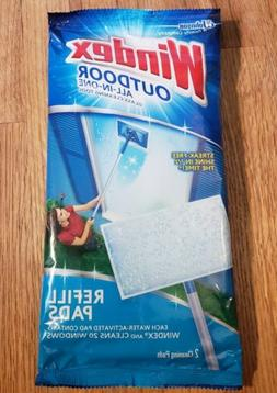 NEW Windex Outdoor All-In-One Glass Cleaning Refill Pads 1 P