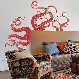 Vinyl Kraken Wall Decal Octopus Tentacles Wall Sticker Sea M
