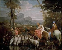 Oil Painting 'Lione Andrea Di El Viaje De Jacob 17 Century '