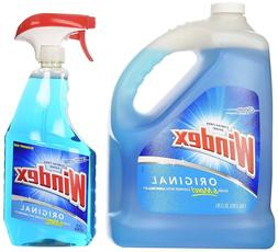 Windex Original Glass Cleaner Streak-Free Ammonia-D Refill &