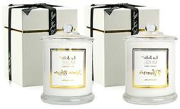 LA JOLIE MUSE Scented Candles Pack 2 Plumeria and Jasmine, 2