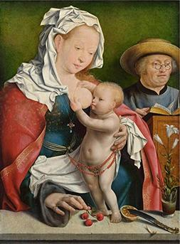 The Polyster Canvas Of Oil Painting 'Joos Van Cleve The Holy