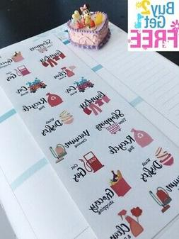 PP370 -- Household Cleaning Remainder Life Planner Stickers