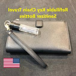 Refillable Key Chain Travel Size Hand Cleaner Glass Bottles