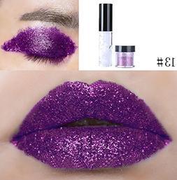certainPL 20 Colors Shimmer Glitter Lip Gloss Powder Palette
