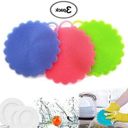 Silicone Sponge Food Grade Kitchen Household Dish Cleaning S