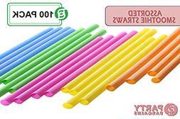 Party Bargains Smoothie Straws | BPA-Free & Reusable Assorte