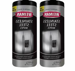 Weiman Stainless Steel Cleaner Wipes  Removes Fingerprints,