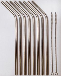 Stainless Steel Drinking Straws- Set of 8 straws + 2 straw C