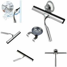 Stainless Steel Window Glass Wiper Cleaner Squeegee Shower B