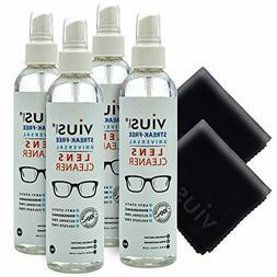 4 Pc 8-Ounce Streak-Free Anti-Static Eyeglasses Cameras Lens