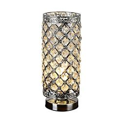 Table Lamp Crystal Polished Chrome Finish Bedside Table Lamp