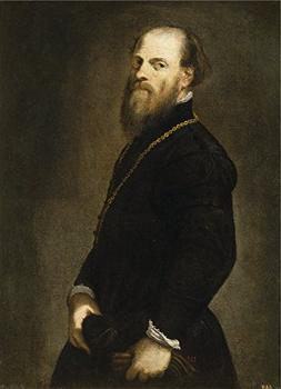 'Tintoretto Jacopo Robusti Gentleman With A Gold Chain Ca. 1