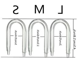1pcs U Shaped Glass Tube Bend for Aquarium Co2 Diffuser CO2
