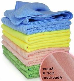 VibraWipe Microfiber Cleaning Cloths, 4 Colors, 8-Pieces. HI