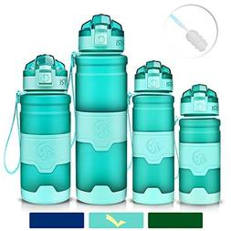 ZORRI Sports Water Bottle Leak Proof, BPA Free Reusable Port