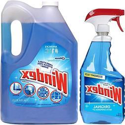 Windex Original Glass Cleaner Set: 1.32 Gallons Refill + 32