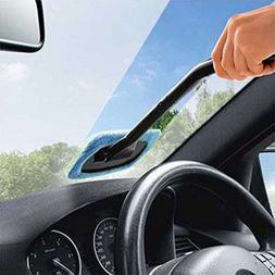 Windshield Car Glass Cleaner Wiper Handle Wand Microfiber Cl