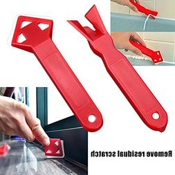 yanQxIzbiu yanQxIzbiu 2Pcs/Set Scraper Floor Cleaner Angle T